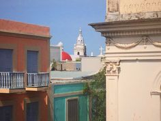 Vista de las torres de La Catedral Nuestra Sra de La Guadalupe, Ponce, PR. Tomada desde tercer piso del parking calle Isabel.