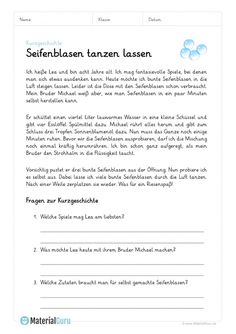 A free worksheet on the subject of short stories, on which the students . Preschool Learning, Teaching, German Language Learning, Learn German, Short Stories, Worksheets, Literature, Homeschool, Student