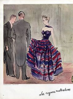 Madeleine Vionnet 1938 Evening Gown, Illus. by Eric, Fashion Illustration, Knize