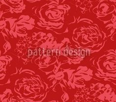 Romantic Roses by Figen Topbas Fukara available for download as a vector file on patterndesigns.com Pattern Designs, Vector Pattern, Patterns, Romantic Roses, Summer Feeling, Vector File, Home Textile, Surface Design, Hydrangea
