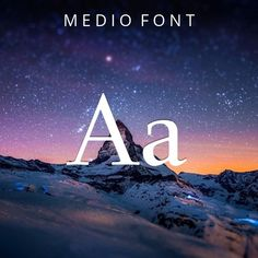 #serif #fonts #download - Medio Font  by Dot Colon: Medio is a free typeface from a well known designer. A great choice for business cards, logos. This free opentype font can be used online. #font #typography #design #inspiration via @thefontex