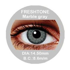 Marble Grey Colored Contacts - Buy Best Quality Non Prescription Colored Contact Lenses - 4