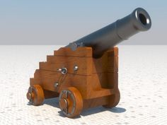 Naval Cannon 3d model free