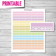Weekly Habit Box Planner Stickers // Printable Planner Stickers PDF (Perfect for Erin Condren Life Planners) - Instant Download // PS1