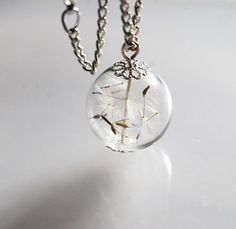 Hey, I found this really awesome Etsy listing at https://www.etsy.com/listing/218995350/dandelion-necklace-make-a-wish-charm-xl