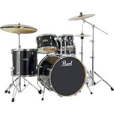 New & Factory Sealed Pearl EXL Export Lacquer Series  EXL705P/C248  Black Smoke Shell Pack - Includes 5 Drums Total: 22x18 Bass Drum, 10x7 Tom and 12x8 Toms w/Optimount, 14x14 Floor Tom with Legs, 14X5.5 SNARE -   FREE Ship Continental USA - Also Ships to Alaska & Hawaii! http://stores.ebay.com/music-for-all-03   http://www.musicforall.biz/