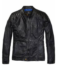 Colour Block Leather Biker Jacket > Mens Clothing > Jackets at Scotch & Soda - Official Scotch & Soda Online Fashion & Apparel Shops