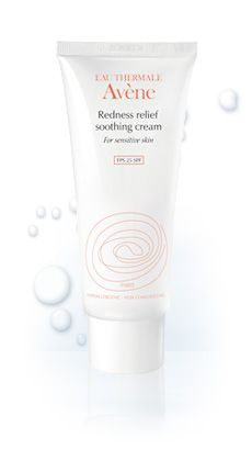 Avene Redness Relief Soothing Cream SPF 25 - Three powerful ingredients combined to work synergistically to help reduce the appearance of redness and blotchiness. The slight green tint helps neutralize and diminish red skin tone while the Avene Thermal Spring Water soothes and softens the skin. This product also contains SPF and moisturizes to help protect from daily UV sun exposure.