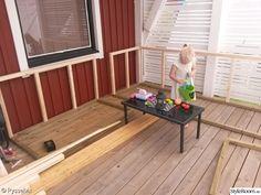 Trädgårdsplank - Hemma hos Don-T Deck Seating, Outdoor Seating, Outdoor Decor, Outdoor Furniture Plans, Diy Garden Furniture, Diy Deck, Diy Patio, Banquette Seating Restaurant, Built In Sofa