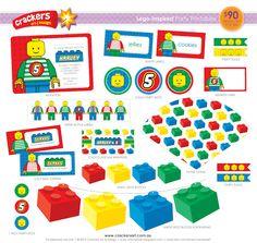 Lego party printables