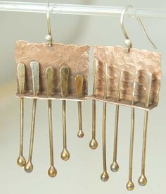 Shoply.com -Let it move - Earrings - Mixed Metal, Sterling and Copper. Only $45.95