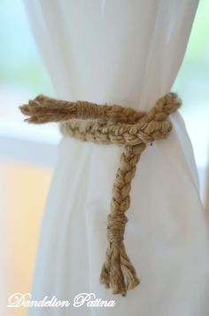 Simply Braided Jute Curtain Tiebacks