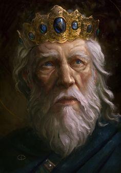 old king art Fantasy Male, Fantasy Rpg, Medieval Fantasy, Fantasy Character Design, Character Creation, Character Art, Character Ideas, Fantasy Portraits, Character Portraits