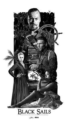 Black Sails - poster - Simon Delart