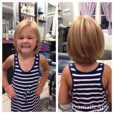 Little Girl Hairstyles Fine Hair Bob Haircut For Girls, Little Girl Haircuts, Girls Short Haircuts Kids, Cute Girl Haircuts, Girls Haircuts With Layers, Short Hair Cuts, Short Hair Styles, Toddler Haircuts, Toddler Bob Haircut