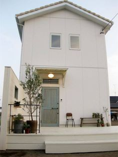 Design Home Exterior Entrance 68 Ideas Style At Home, House Front, My House, Exterior Design, Interior And Exterior, Decoration Inspiration, Small House Design, Japanese House, Facade House