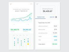 Financial management app - calendar - by sharp+nimble