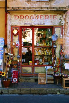 Dordogne Poster featuring the photograph Droguerie by John Galbo
