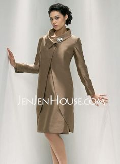 Mother of the Bride Dresses - $113.49 - Sheath Scoop Neck Knee-Length Satin Mother of the Bride Dresses (008005678) http://jenjenhouse.com/Sheath-Scoop-Neck-Knee-length-Satin-Mother-Of-The-Bride-Dresses-008005678-g5678