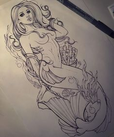 Mermaid for tomorrow. Hope she likes it..