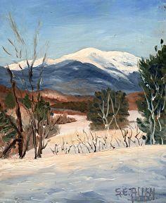 Winter View from the Overlook by Sharon Allen oil plein air ~ 12 x 9