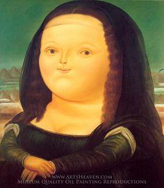 Fernando Botero Mona Lisa Painting | Reproduction of Botero Mona Lisa from Arts Heaven
