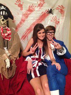 Halloween couple costume! Sixties girl and Austin Powers
