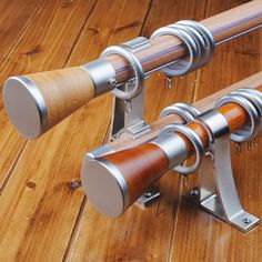 brown wood curtain rods - Google Search