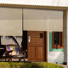 Valanced Exterior Pole Operated Outdoor Shade - Overstock™ Shopping - Great Deals on Keystone Fabrics Blinds & Shades