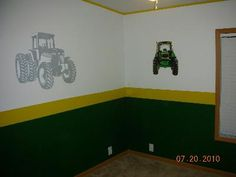Tractor John Deere Inspired Letters Custom Room Decor