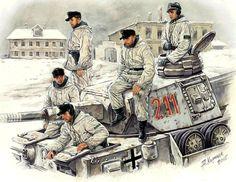 German Panzer IV Crew - Eastern Front