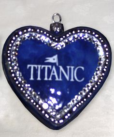 Titanic Blue Heart of the Ocean Ornament - Titanic Museum Attraction in Branson, Missouri and Pigeon Forge, Tennessee