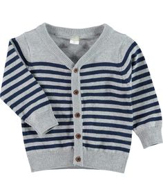 Name It cool cardigan for little boys with grey and navy stripes. name-it.en.emilea.be