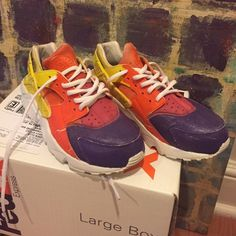 Colorful Huaraches‼️Lowest❗️ Purple , orange , pink and yellow huaraches Nike Shoes Sneakers