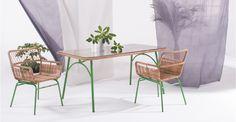 Lyra, table rectangulaire, vert | made.com