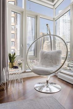 Battery Park City beautiful apartment designed by Lo Chen Design - CAANdesign Room Design Bedroom, Girl Bedroom Designs, Room Ideas Bedroom, Bedroom Decor, Minimalist Room, My New Room, Apartment Design, Living Room Chairs, House Rooms