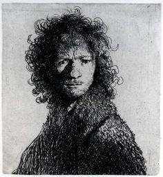 rembrandt self portrait drawing - Google Search