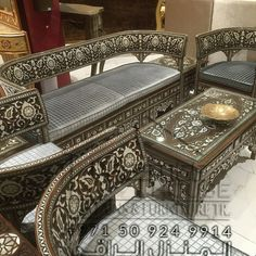 Decor, Drawing Room Furniture, Colorful Furniture, Contemporary Bedroom, Furniture, Home Furniture, Sofa Set, Home Furnishings, Carved Furniture