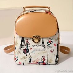 How nice College Casual Floral Lovely Bear Eiffel Tower Pattern School Travel Backpack ! I like it ! I want to get it ASAP! Lace Backpack, Retro Backpack, Laptop Backpack, Travel Backpack, Backpack Bags, Leather Backpack, Fashion Backpack, Backpack Pattern, Leather Satchel