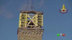 Vigili del Fuoco - Amatrice - Messa in Sicurezza Torre Civica ex chiesa ...