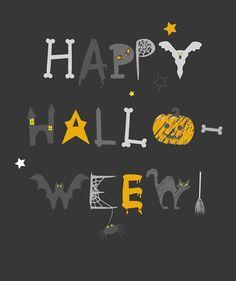 emily kiddy happy halloween slogan prints