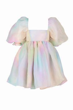 The Rainbow Puff Dress – Selkie Stage Outfits, Mode Outfits, Cute Dresses, Summer Dresses, Mini Dresses, Birthday Dresses, The Dress, Ideias Fashion, Fashion Dresses