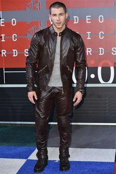 Nick Jonas attends the 2015 MTV Video Music Awards in Los Angeles on Aug. 30, 2015.
