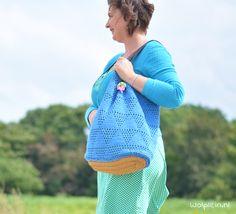 Tas haken? Maak deze prachtig tas met voering. - Gratis patroon - Wolplein.nl