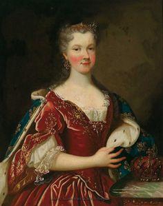 Queen Marie Leszczyńska, wife of Louis XV by Alexis-Simon Belle, ca 1725.