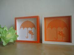 Handmade frames  pair  orange  girls'/baby by AnnMaryConsulDesigns