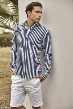 Official fashion campaign for Spring/Summer 2017 Ss 2017, Well Dressed, Scenery, Campaign, Button Down Shirt, Men Casual, Spring Summer, Shirt Dress, Guys