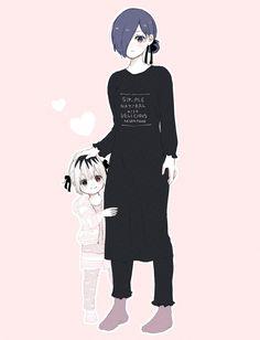 Kirishima Touka y Ichika Tokyo Ghoul Fan Art, Tokyo Ghoul Manga, Manga Anime, Old Anime, Kaneki Y Touka, Tokyo Ghoul Wallpapers, Otaku, Anime Family, Anime Girl Cute