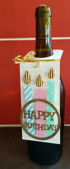 etiquette pour bouteille bougies d'anniversaire