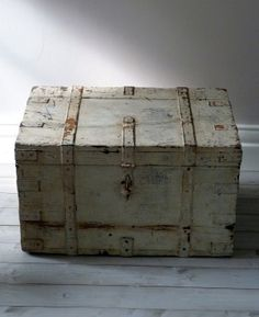 Large Vintage Distressed Storage Chest